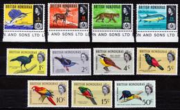 BRITISH HONDURAS 1962 BIRDS Up To 50C    + 1967 SET   MNH      ANIMALS - Honduras Britannique (...-1970)