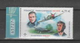 FRANCE / 2021 / Y&T PA N° 85 ** : Pierre Clostermann & Claire Romain (de Feuille De 12 TP) X 1 BdF G Avec N° De Feuille - 1960-.... Nuevos