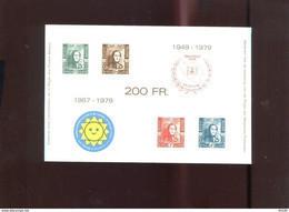 Belgie Erinno E133 Stamp On Stamp Epaulettes 1849  OCB 25€ RR - Commemorative Labels