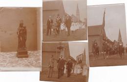 Tollembeek (Gammerages) Procession Lot De Vieilles Photos 8.5 X 5.5 - Lugares