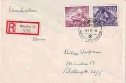 ALLEMAGNE 1943 LETTRE RECOMMANDEE DE MÜNCHEN - Briefe U. Dokumente