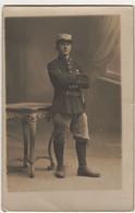 Carte Photo Poilu Uniforme De Fortune 1915 - 1914-18