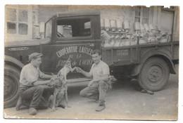 Coopérative Laitière De La Vallée De L'Ource, 2 Cartes Photos Dont Camion Renault De Livraison Et Les 2 Employés - Ohne Zuordnung