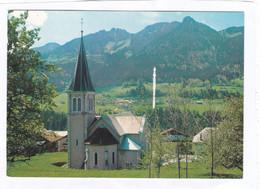 CPM.  15 X 10,5  -  CHEVENOZ  -  L'Eglise, Le Hameau Du Fion, Face à L'Aiguille Et Aux Aiguillettes - Autres Communes