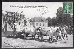CPA 36 - Châteauroux, Fêtes Du Commerce Et De L'Industrie - Char De La Société Des Eleveurs - Chateauroux