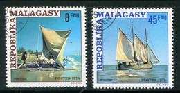 MADAGASCAR- Y&T N°576 Et 577- Oblitérés (bateaux) - Madagaskar (1960-...)