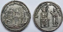 MONEDA Medalla Souvenir ESPAÑA 33mm: Milenario CASTILLO LOARRE 1020-2020 Huesca - Royal/Of Nobility