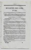Bulletin Des Lois 816 1841 Ardennes Tarif Droits Au Passage Des Bacs Et Bateaux/Approvisionnement De Paris En Bois/Fils - Decreti & Leggi