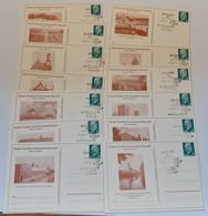 """Mi-Nr. PP9, """"Ulbricht"""", Bezirk Potsdam, 1968, 14 Versch. Karten, Je Pass. Sst. """"Rathenow"""" - Privatpostkarten - Gebraucht"""