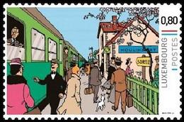 Timbre Privé** Kuifje/Tintin - Milou/Bobbie - Les 7 Boules De Cristal/De 7 Kristallen Bollen - Gare De Moulinsart (p.1) - Autres