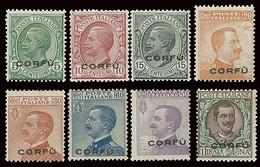 ITALY ITALIA CORFU' 1923 SERIE NUOVA INTEGRA COMPLETA (Sass. 1-8) OFFERTA!!! - Corfu