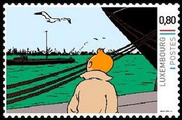 Timbre Privé** - Kuifje / Tintin - Milou / Bobbie - Le Crabe Aux Pinces D'or / De Krab Met De Gulden Scharen (p.9) - Autres