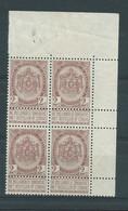 N° 55a** EN BLOC DE 4 CDF - 1893-1907 Wappen