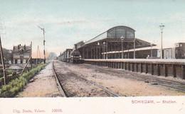 48538Schiedam, Station Met Sttomtrein. - Schiedam