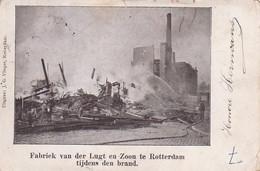 485315Rotterdam, Fabriek Van Der Lugt En Zoon Tijdens Den Brand. (Zie Hoeken En Randen) - Rotterdam