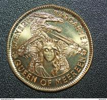 "Very Beautiful And Rare Bronze Fantaisy Token "" One Mark / Game  "" One Mark / Game Of Thrones "" Dragon - Casino"