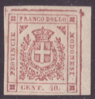 Modena, 40 Centesimi Rosa Carminio Governo Provvisorio Nuovo * (Asinelli, Diena)       -DT35 - Modène