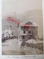 """SUISSE Ville D'ANDERMATT """"LA REUSS"""" Photo Originale De 1898 - Oud (voor 1900)"""