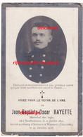 Oorlog Guerre Jean Baptiste Hayette Neufmaisons Rijkswacht Te Paard Gesneuveld Te Woumen Diksmuide 1918 Gendarmerie - Images Religieuses