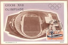 Cartolina Giochi XVII Olimpiadi Di Roma - Non Viaggiata - Annullo 1960 - Olympic Games