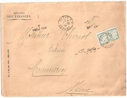 COMMERCY Meuse Lettre Ministère Finances Simple Taxe 2° Echelon Tf 1/4/1920 20c Banderole Vert Yv T31 Ob 1923 - 1859-1955 Briefe & Dokumente