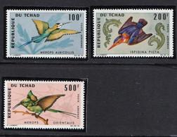 TCHAD - Faune, Oiseaux - Tb Y&T PA 31-32-34 - MNH - Tschad (1960-...)