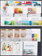CHINA 2010, Superb Lot (1 Serie 2011), FD-cancelled, Original Gum Never Hinged - Lots & Serien