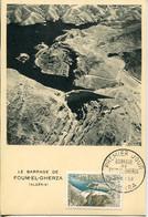 65857 France,maximum 1959 Barrage De Foum El Gherza, Talsperre, Dam  Dike, - 1950-59