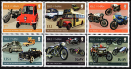Isle Of Man - 2021 - On The Road - Isle Of Man Motor Transport Museum - Mint Stamp Set - Man (Insel)