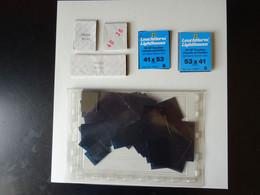 Pochettes Fond Noir Simple Soudure Pour Feuilles D'album. Ensemble De Pochettes Composé De Formats Divers Environ 30 Gra - Otros Materiales