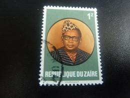 Zaire - Général Mobutu - Président - Val 1 Z - Multicolore - Oblitéré - Editions Courvoiser - - 1980-89: Oblitérés