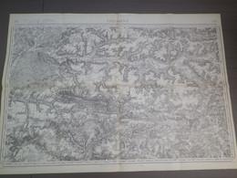 SOISSONS N° 33 - CARTE DU DEPOT DE LA GUERRE - Ed. 1834 REVISÉE EN 1912 - TIRAGE 1912 - 1/80.000e - 1914-18