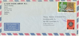 Iraq Air Mail Cover Sent To Denmark Topic Stamps - Iraq