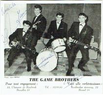 Autographe. Chanteurs. The Game Brothers. - Handtekening