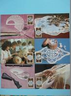 Carte Maximum Card (x6) Broderie Dentelle Embroidery DDRref 730 - Textile