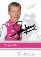 CARTE DU CYCLISME ANDREAS KLIER SIGNEE TEAM T - MOBILE 2004 - Cycling