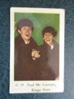 TRADE CARD -  PAUL MC CARTNEY - RINGO STARR  D-0887 - Ohne Zuordnung