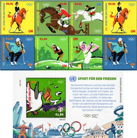 United Nations - Vienna - 2021 - Summer Olympic Games - Sport For Peace - Mint Stamp Set + Souvenir Sheet - Neufs