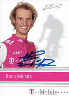 CARTE DU CYCLISME BRAM SCHMITZ SIGNEE TEAM T - MOBILE 2004 - Cycling