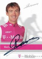 CARTE DU CYCLISME MARIO AERTS SIGNEE TEAM T - MOBILE 2004 - Cycling