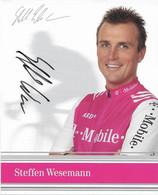CARTE DU CYCLISME STEFFAN WESEMANN SIGNEE TEAM T - MOBILE 2004 - Cycling