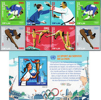 United Nations - Geneva - 2021 - Summer Olympic Games - Sport For Peace - Mint Stamp Set + Souvenir Sheet - Neufs