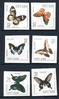 W-15 Viet-Nam  NON DENTELES N° 472 à 477 Toujours Sans Gomme Papillons  A Saisir !!! - Vietnam