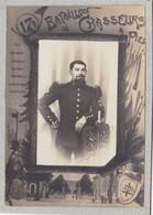88 - RAMBERVILLERS - Photo Militaire 1900 - Portrait Soldat En Souvenir Du 17ème Bataillon De Chasseurs Alpins - Orte
