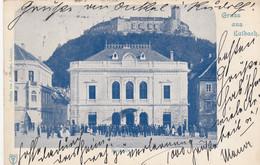 AK - Gruss Aus LAIBACH (Ljubljana) - Slowenische Philharmonie Mit Festung 1900 - Slovenia