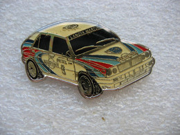 Pin's Rallye Automobile, Lancia Delta HF Integrale . Véhicule De Compétition - Rallye