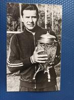 Football Soccer Fussball Calcio -  The Greatest Goalkeeper  - Lev Yashin With Cup - Old Soviet Postcard - Calcio