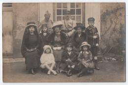 CARTE PHOTO DE SAINT BENOIT DU SAULT - SOUVENIRS AFFECTUEUX - MILITAIRES EN FAMILLE - ECRITE LE 11 MAI 1919 -z 2 SCANS Z - Sonstige Gemeinden