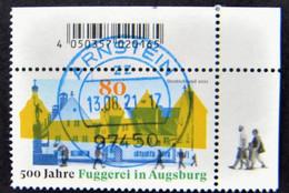 "Bund/BRD August 2021,  Sondermarke ""500 Jahre Fuggerei"" MiNr 3621, Ecke 2, Gestempelt - Used Stamps"