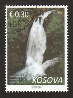 Kosovo 2016 Waterfall Nature Trees, RARE, Definitive Stamp Reprint Mi. Nr.307, Cto. Very Fine USED - Kosovo